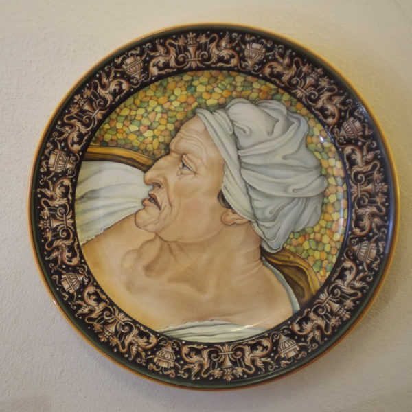 Piatto in ceramica Deruta. Cesare Margaritelli. Sibilla Cumana