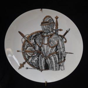 Piatto ceramica Fornasetti